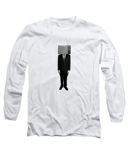 Tv Head Long Sleeve T-Shirt by Diane Diederich