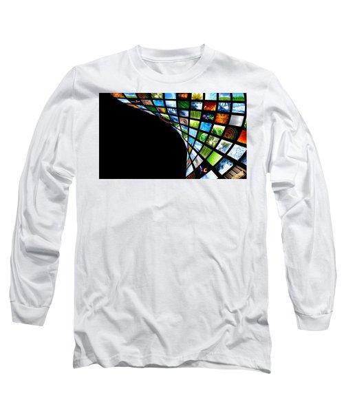 Tv Warp Wall Long Sleeve T-Shirt