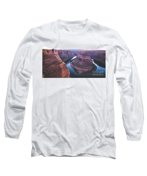 Twilight At Horseshoe Bend Long Sleeve T-Shirt by JR Photography