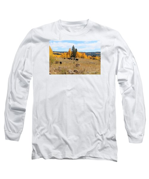 Twilight Fall Mountain Range In Colorado Long Sleeve T-Shirt