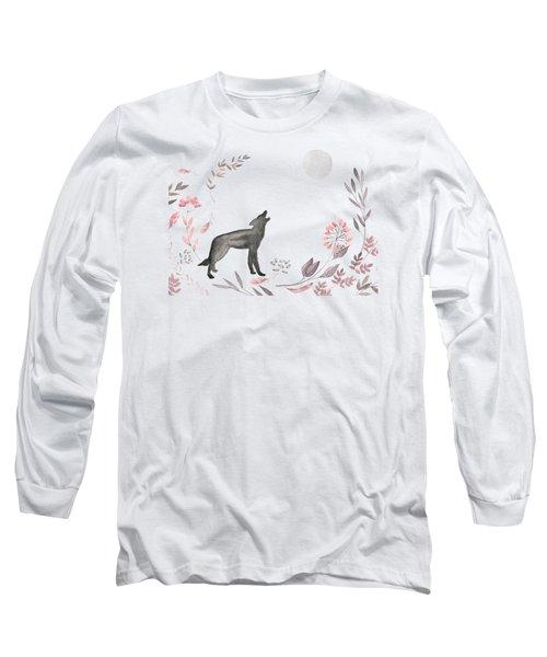 Twilight Wolf Long Sleeve T-Shirt