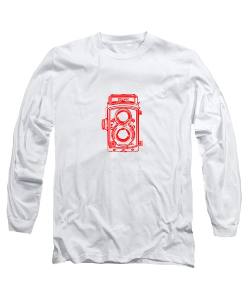 Long Sleeve T-Shirt featuring the drawing Twin Lens Camera by Setsiri Silapasuwanchai