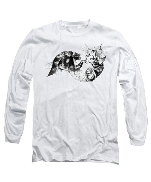 Twisted Kitten Long Sleeve T-Shirt
