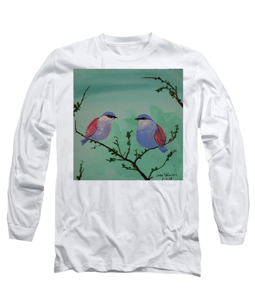 Two Chickadees Long Sleeve T-Shirt