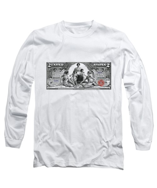 Two Dollar Note - 1896 Educational Series  Long Sleeve T-Shirt