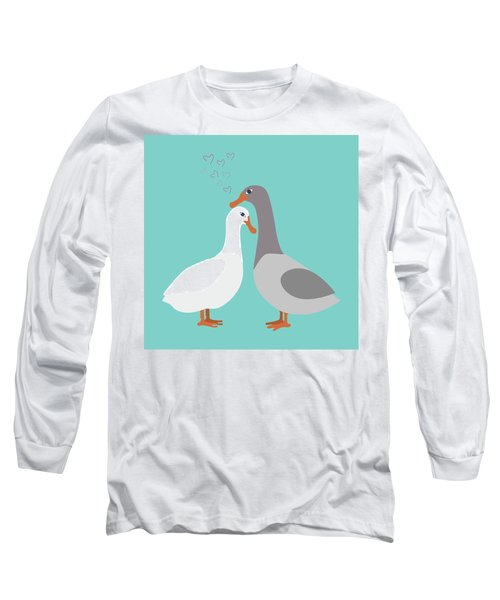 Two Ducks In Love Long Sleeve T-Shirt