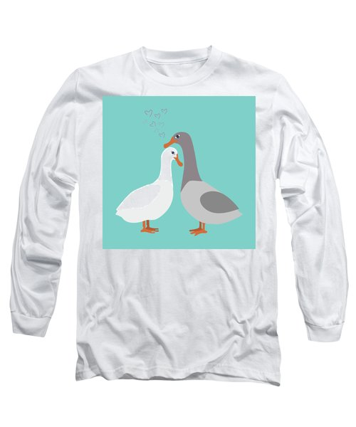 Two Ducks In Love Long Sleeve T-Shirt