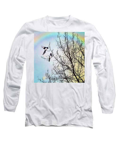 Two For Joy #nurseryrhyme Long Sleeve T-Shirt by John Edwards