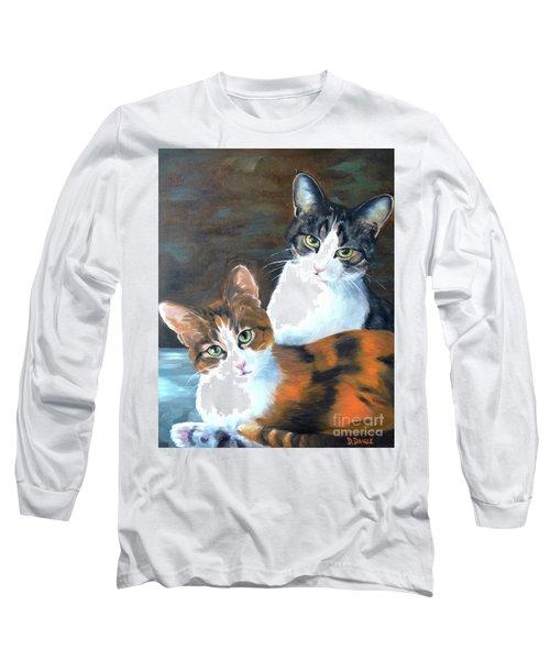 Two Friends Long Sleeve T-Shirt by Diane Daigle