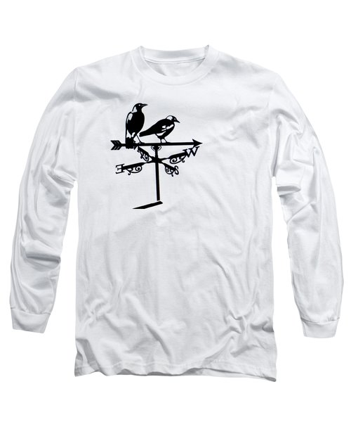 Two Magpies Long Sleeve T-Shirt by India Rattray