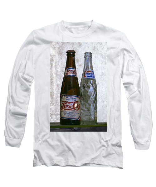 Two Pepsi Bottles On A Table Long Sleeve T-Shirt