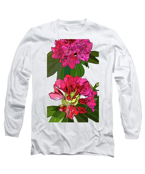 Two Rhododendrons Long Sleeve T-Shirt by Jamie Downs