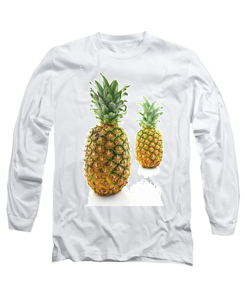 Two Ripe Pineapples, Focus On The Closest One Long Sleeve T-Shirt