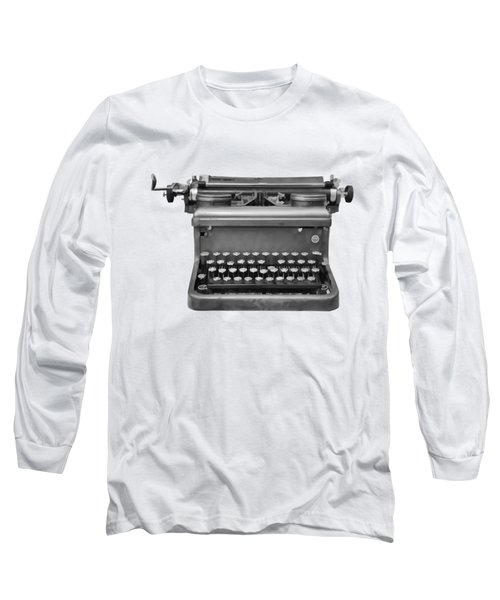 Typewriter Long Sleeve T-Shirt by Roger Lighterness