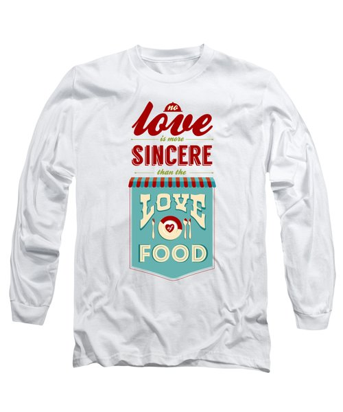 Typography Art Quotes Poster Long Sleeve T-Shirt
