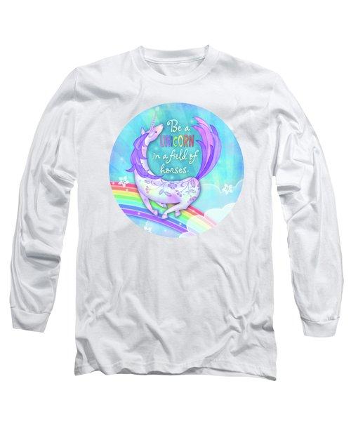 U Is For Unicorn Long Sleeve T-Shirt