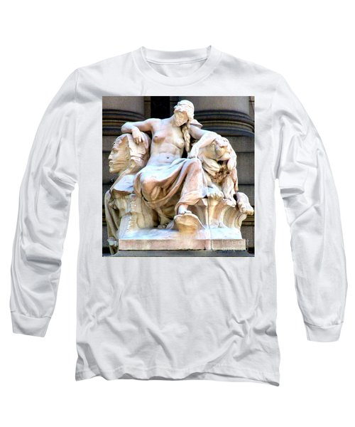 U S Custom House 3 Long Sleeve T-Shirt by Randall Weidner