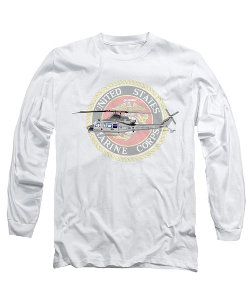 Long Sleeve T-Shirt featuring the digital art Uh-1y Venom Usmc by Arthur Eggers