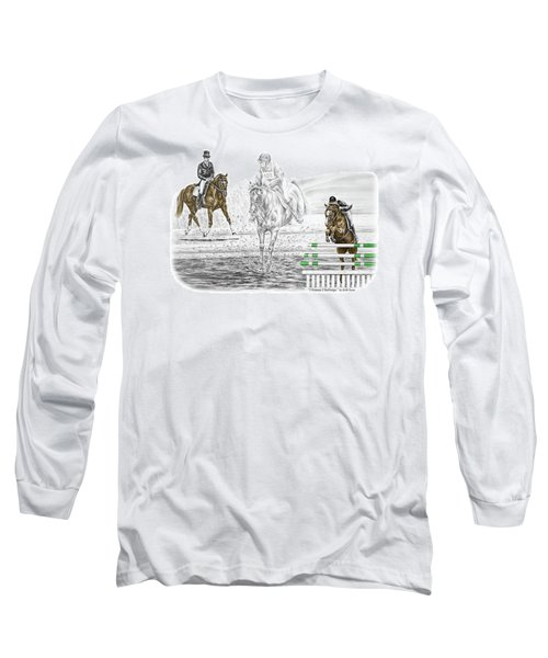 Ultimate Challenge - Horse Eventing Print Color Tinted Long Sleeve T-Shirt by Kelli Swan