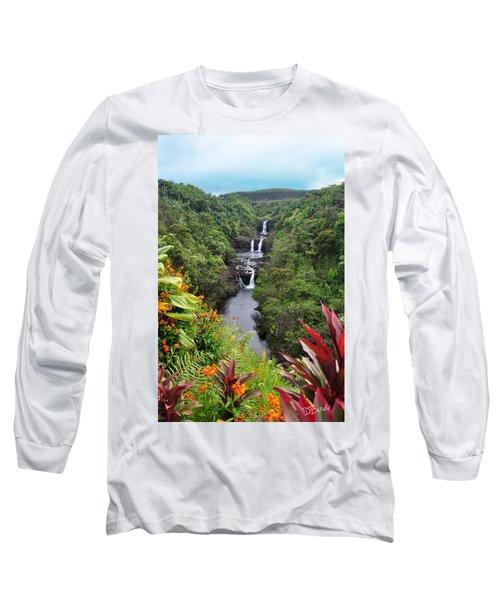 Umauma Falls Hawaii Long Sleeve T-Shirt
