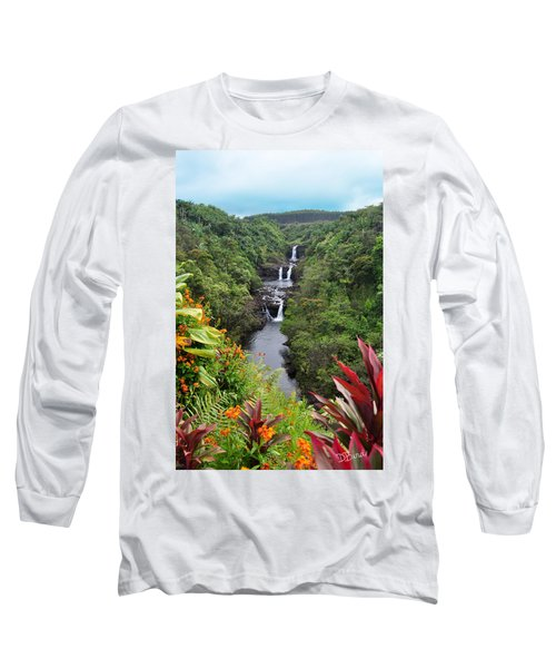 Umauma Falls Hawaii Long Sleeve T-Shirt