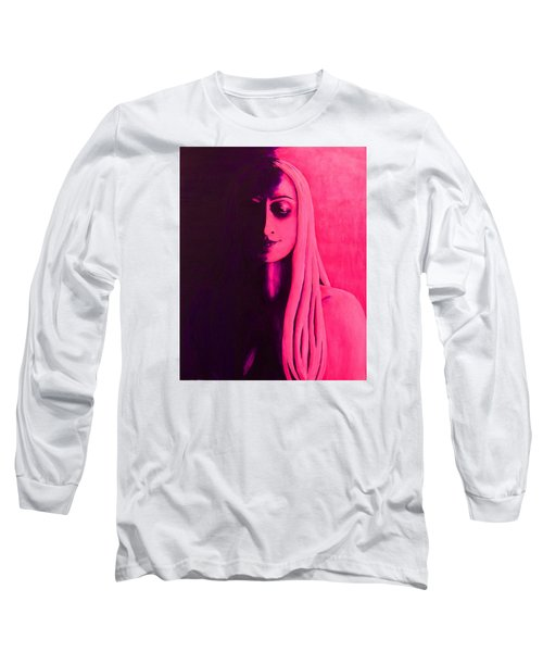 Unanswered In Pink And Purple Long Sleeve T-Shirt