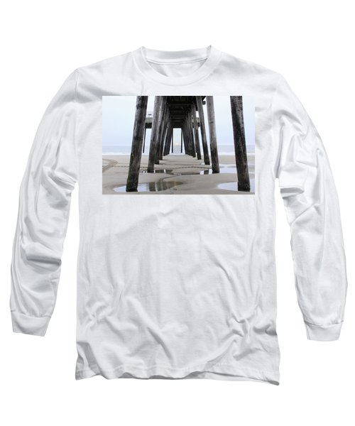Long Sleeve T-Shirt featuring the digital art Under The Pier by Sharon Batdorf