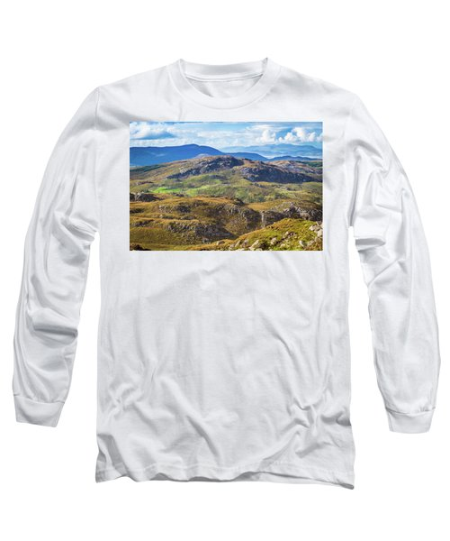 Undulating Landscape In Kerry In Ireland Long Sleeve T-Shirt by Semmick Photo