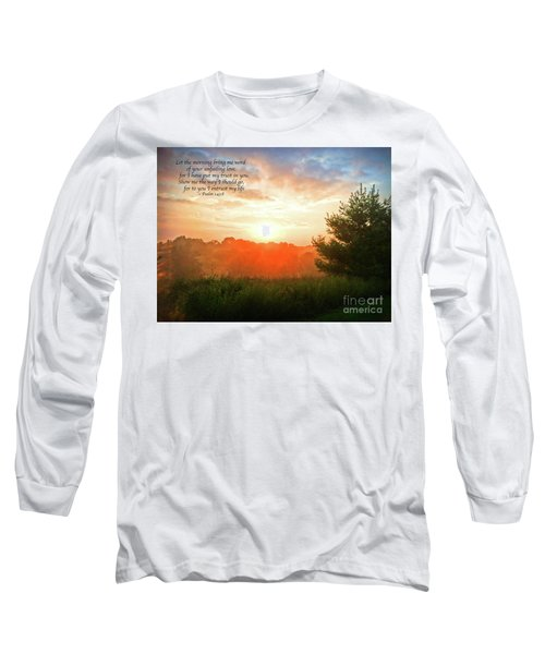 Long Sleeve T-Shirt featuring the photograph Unfailing Love by Kerri Farley