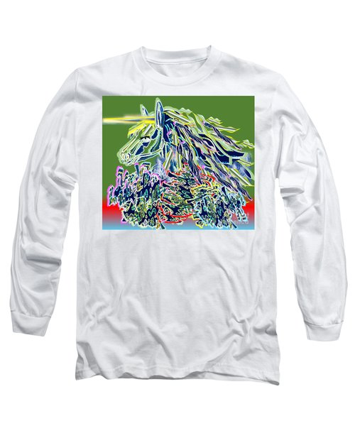 Unicorn Long Sleeve T-Shirt by Belinda Threeths
