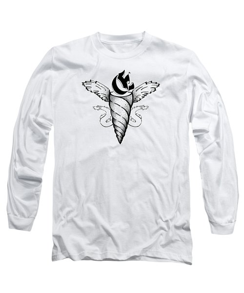 Real Fake News Unicorn Caduceus Long Sleeve T-Shirt