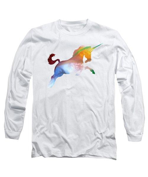 Unicorn Long Sleeve T-Shirt by Mordax Furittus