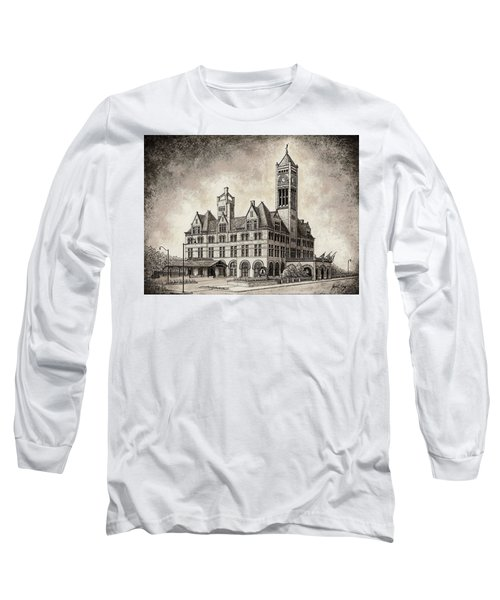 Union Station Mixed Media Long Sleeve T-Shirt