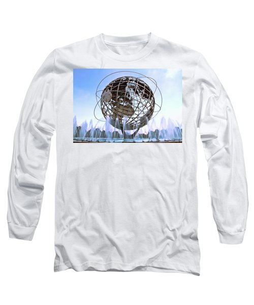 Unisphere With Fountains Long Sleeve T-Shirt
