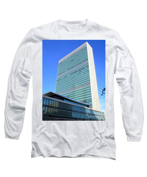 Long Sleeve T-Shirt featuring the photograph United Nations 1 by Randall Weidner