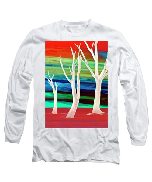 Long Sleeve T-Shirt featuring the photograph United Trees by Munir Alawi