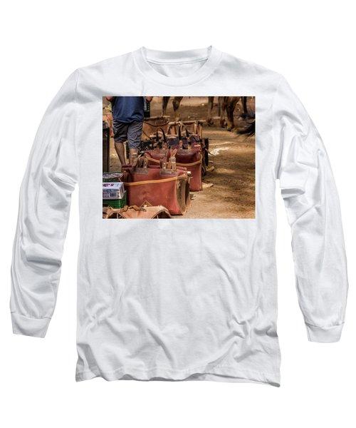 Unloading Mules At Phantom Ranch Long Sleeve T-Shirt