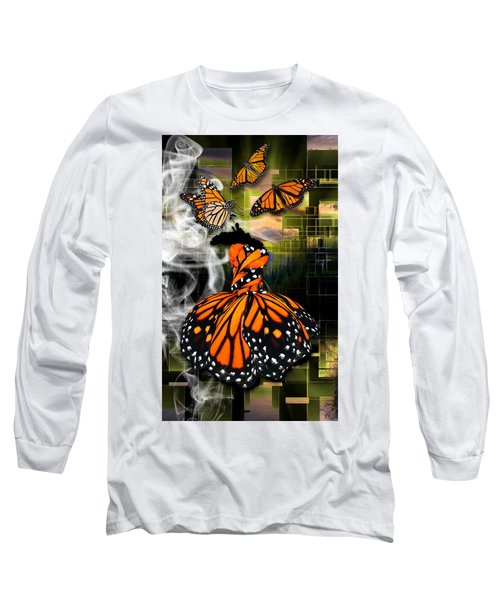 Long Sleeve T-Shirt featuring the mixed media Unrestricted by Marvin Blaine