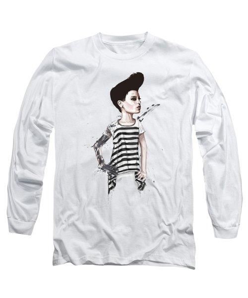untitled II Long Sleeve T-Shirt by Balazs Solti