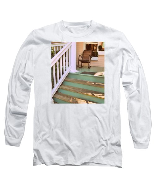 Up The Steps Long Sleeve T-Shirt by JAMART Photography