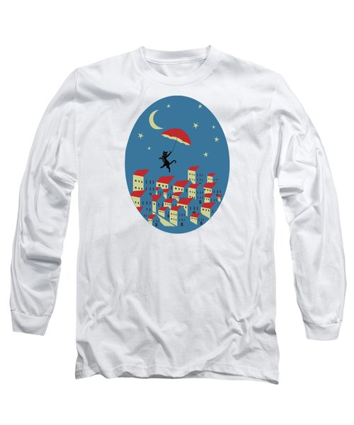 Upton The Cat And His Evening Adventures Long Sleeve T-Shirt