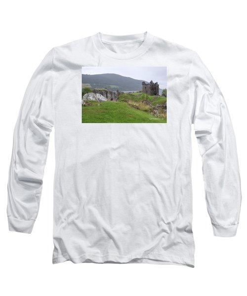 Urquhart Castle - Drumnadrochit Long Sleeve T-Shirt by Amy Fearn