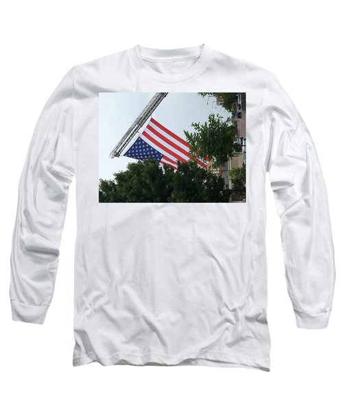 Long Sleeve T-Shirt featuring the photograph Us Flag by Andrea Love