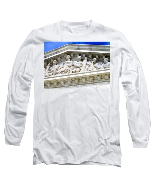 Us Supreme Court 4 Long Sleeve T-Shirt by Randall Weidner