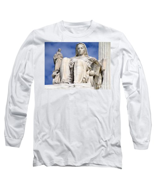 Us Supreme Court 7 Long Sleeve T-Shirt by Randall Weidner