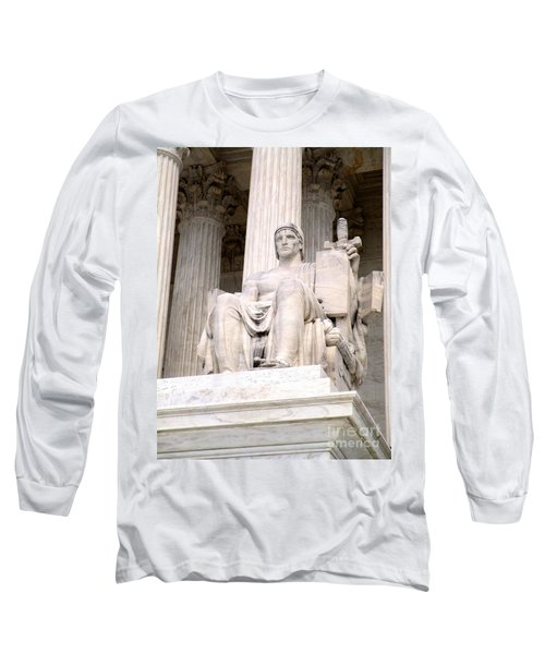 Us Supreme Court 8 Long Sleeve T-Shirt by Randall Weidner