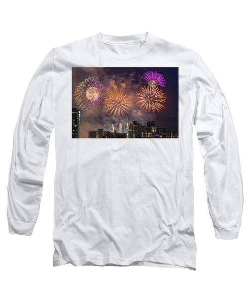 Usa 1 Long Sleeve T-Shirt by Ross G Strachan
