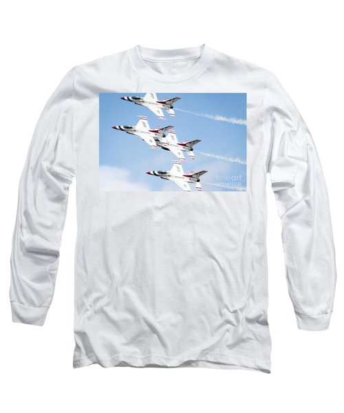 Usaf Thunderbirds Long Sleeve T-Shirt by Lawrence Burry