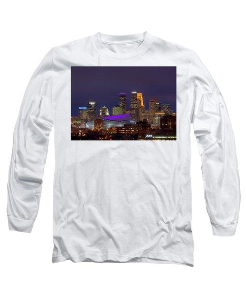 Usbank Stadium Dressed In Purple Long Sleeve T-Shirt