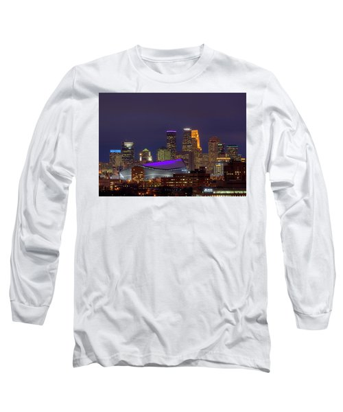 Usbank Stadium Dressed In Purple Long Sleeve T-Shirt